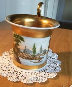 Antique Russian Porcelain Cup, GARDNER ca. 1830
