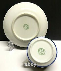 Antique Tea Cup&Saucer by Sergey Chekhonin dr Russian porcelain Proletary USSR