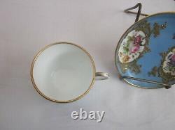 Antique Unmarked Sevres Demi Cup & Saucer Set