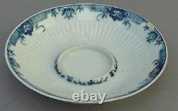 Antique Worcester Trembleuse cup and saucer, First Period Dr. Wall 1760 Georgian