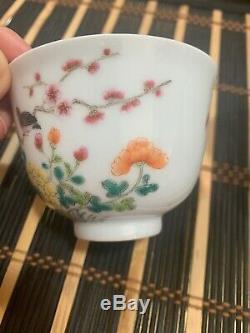 Antique chinese porcelain tea cup Pair
