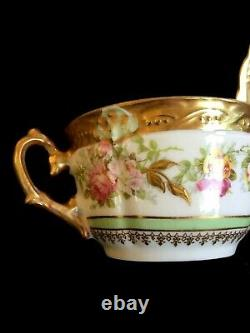 Antique porcelain LIMOGES Cup&Saucer set of 11 pair