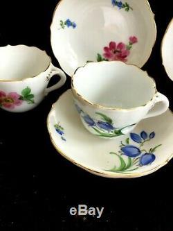 Antique porcelain coffee cup&saucer MEISSEN