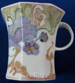 Art Nouveau Rozenburg Porcelain Earthenware Cup & Saucer Porselein Tasse Beker