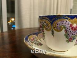 Authentic 18th century sévres porcelain cup and saucer