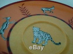 Authentic HERMES Africa Porcelain 2 Set Cup and Saucer