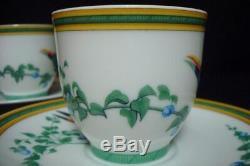 Authentic HERMES Toucans Porcelain 2 Set Demitasse cup and Saucer