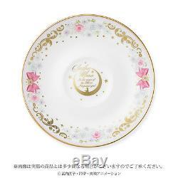 BANDAI Sailor Moon Noritake Collaboration Tea Cup saucer set F/S from JAPAN NEW