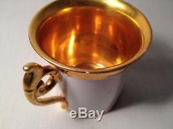 Beautiful Hand Painted KPM Porcelain Portrait Cup & Saucer