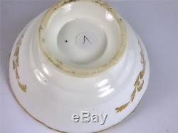 C1830-45 FINE ANTIQUE ENGLISH PORCELAIN TEA CUP & SAUCER MINTON a