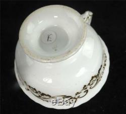 C1840 FINE ANTIQUE COALPORT PORCELAIN TEA CUP & SAUCER SCENES & GILT e