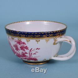 C18th Italian Porcelain Tea Cup & Saucer, DOCCIA c1770