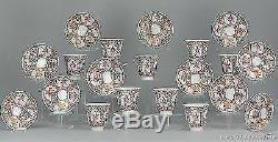 Ca1900 Japanese porcelain Meiji eggshell teaset antique Japan figures cup saucer