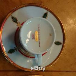 Cartier Porcelain Espresso Cup & Saucer 4.64.8/10.5cm LIMOGES Gold edge NO BOX