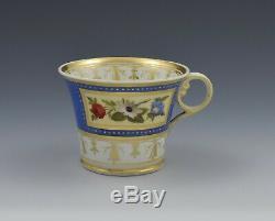 Chamberlain Worcester Baden Shape Porcelain Coffee Cup & Saucer