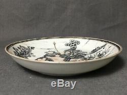 Chinese Export 18th C Grisaille Gilt Porcelain Tea Saucer