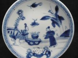 Chinese porcelain saucers, kangxi period