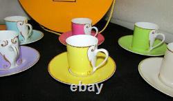 Christian Lacroix Arts De La Table Follement Boxed Set Of 6 Cup & Saucers