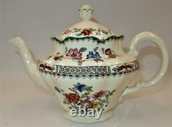 Copeland Spode CHINESE ROSE 629599 Green Trim Floral, 5 Cup Teapot