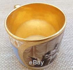 Dagoty Paris Porcelain Cup & Saucer C. 1810