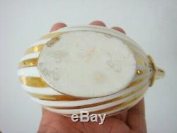 Dagoty Paris Porcelain Unusual Dolphin Handle Shell Form Cup & Saucer C1810