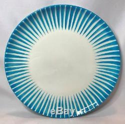 Eugen Trost Upsala Ekeby Gefle BLUE ZEBRA Cup Saucer & Luncheon Plate Set Sweden