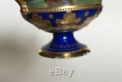 Exquisite Ambrosius Lamm Dresden Porcelain Demitasse Cabinet Cup & Saucer