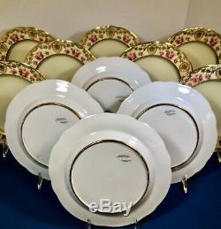 Exquisite Set of 11 Antique Copeland Spode Cabinet Plates For Spaulding & Co