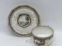 FAB! Rare! Nymphenburg Porcelain Pearl King Service Espresso Cup & Saucer