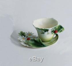 FRANZ Porcelain Ladybug Design Cup & Saucer Set FZ00034