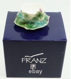 FZ00015 Franz Porcelain Amphibia frog design cup set saucer set