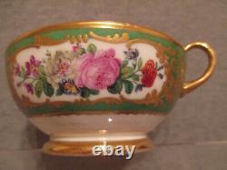 Feuillet Paris Porcelain, Porzellan Floral Cup & Saucer 19thC (1 of 4)
