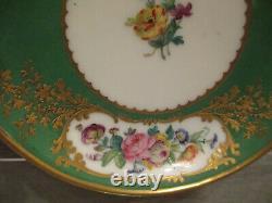 Feuillet Paris Porcelain, Porzellan Floral Cup & Saucer 19thC (4 of 4)