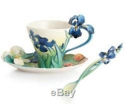 Franz Porcelain Cup, Saucer & Spoon Set Van Gogh Iris
