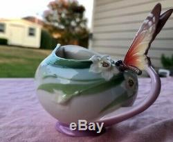 Franz Porcelain Papillon Butterfly Tea Set (2) Cups and Saucers, Teapot & more