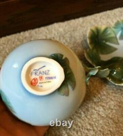 Franz Porcelain Retired Amphibia Frog Design Cup and Saucer Set FZ00015