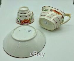Georgian English Porcelain Cream Jug Cup & Saucer c. 1825