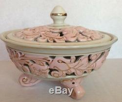 H&C Original Rosa Porzellan Czechoslovakia Pink Coffee Cups & Saucers, Candy Bowl
