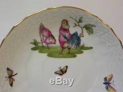 HEREND Porcelain CHANTICLEER Cup & Saucer