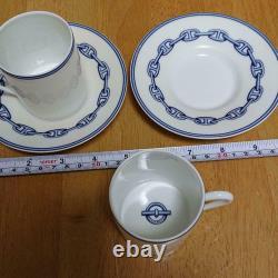 HERMES Paris Authentic Cup & Saucer Chaine D'ancre Demitasse Tableware Set of 2