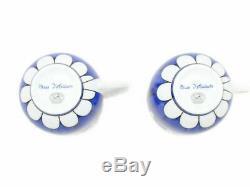 HERMES Porcelain Coffee Cup Saucer Bleus D'Ailleurs Blue Tableware set Ornament