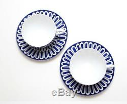 HERMES Porcelain Tea Cup Saucer 2 set Tableware Bleus D'Ailleurs Dish Ornament