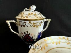 Herend Porcelain Handpainted Miramare Lidded Tea Cup And Saucer 2715/mr