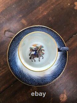 Hermes 1987 Porcelaine Espresso Cup Saucer Horse Set