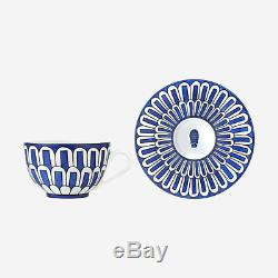 Hermes Bleus D'ailleurs Pair Of Teacups And Saucers #p030016p Brand Nib F/sh