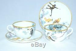 Hermes Carnets d'Equateur tea Cup and Saucer Set of 2 with Box Dinnerware coffee