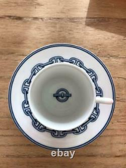 Hermes Chaine Dancre Demitasse Cup and Saucer 2 set Espresso coffee M149