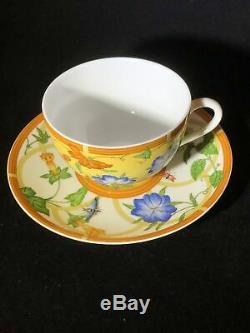 Hermes La Siesta Porcelain Breakfast Cup with Saucer