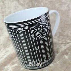 Hermes Paris Mug Cup Porcelain H DECO Black Ornament Authentic with Case (NEW)