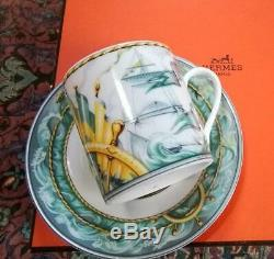 Hermes Porcelain Patchwork Coffee Cup Saucer Tableware set Ornament Ship New